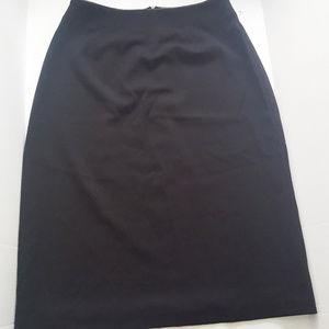 Kim Rogers Black A-line Midi Skirt Work Petite 16P